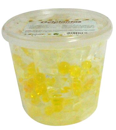 Gel Cubos + Bolinhas Amarelo