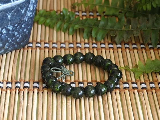 Pulseira Tibetana - Ágata Verde