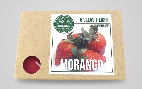 Velas Tealight Aroma - Morango