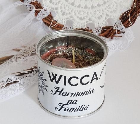 Vela em lata Wicca - Harmonia na Família
