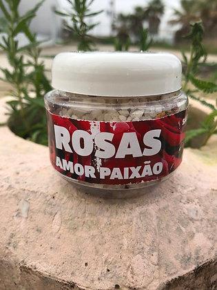 Sal de banho de limpeza - Rosas