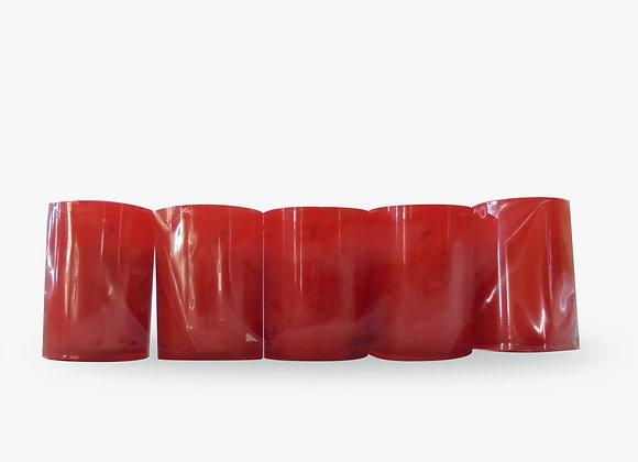 Lamparina Pack de 5 - vermelha