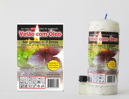 Velão com óleo Sal Grosso e 7 ervas