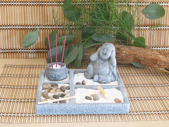 Jardim Zen Pequeno Quadradc Cinza ou Branco