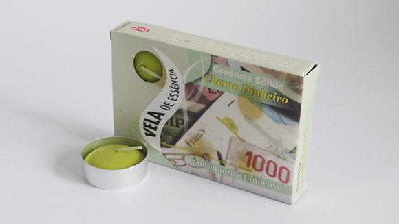 Vela T-Light  Chama Dinheiro