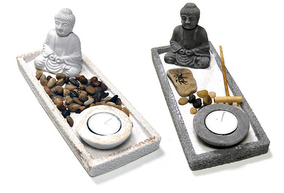 Jardim Zen Peq. Rectangular Cinza ou Branco