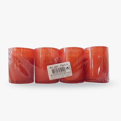 Lamparina Pack de 4 - vermelha