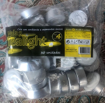 Saco Velas T-light - 30 unidades