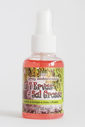 Spray Ambientador 7 Ervas e Sal Grosso