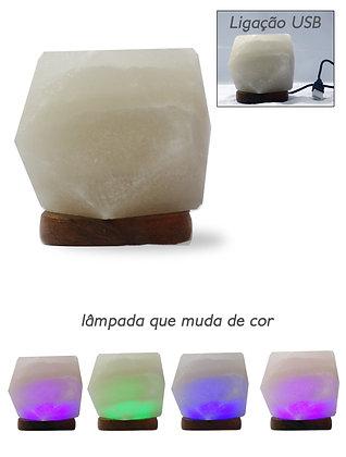 Candeeiro de Sal USB - Diamante