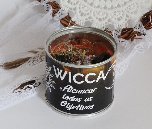 Vela em lata Wicca - Alcançar todos os Objectivos