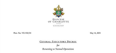 Executory Decree Return to Normal