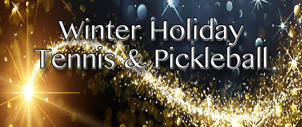 Winter Holiday Tennis and Pickleball Sli