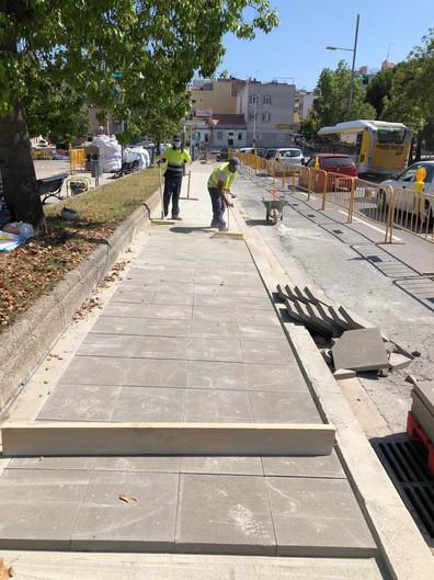Pavimentació Rambla Sant Joan - Badalona