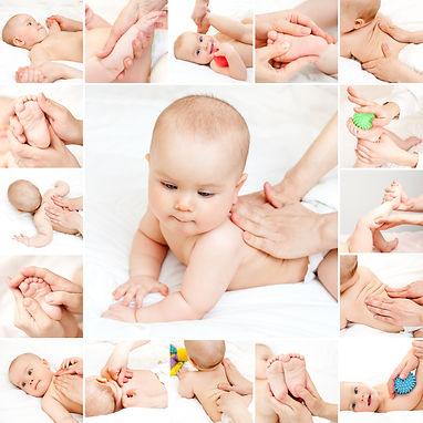 Masseuse massaging little baby girl.jpg