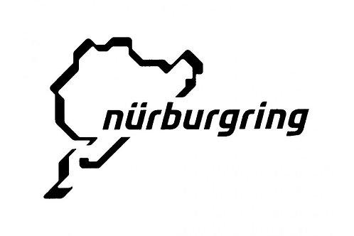 【預訂】Nürburgring Sticker New Logo 12cm