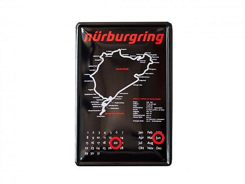 """【預訂】Metal plate calendar """"Nürburgring"""""""