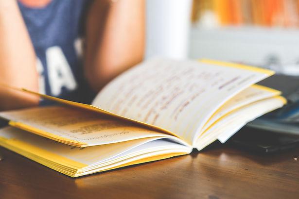 cuaderno abierto