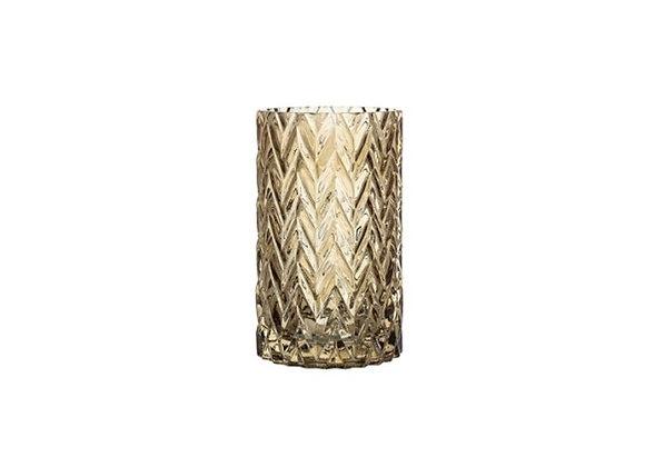 Vase - Fumé avec détails en relief