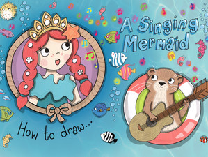 How to draw a Singing Mermaid
