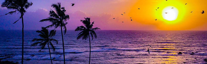 Beautiful Anjuna, goa beach sunset