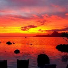 Sunset, Tahiti