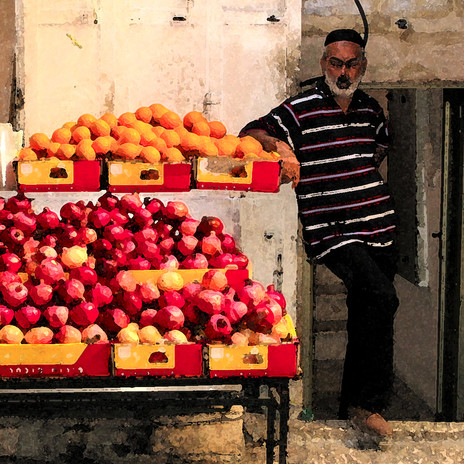 Pomegranates for Sale, Jerusalem, Israel