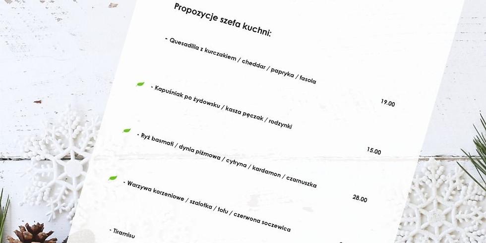 """Nowa wkładka menu """"Propozycje Szefa Kuchni""""  styczeń 2020"""