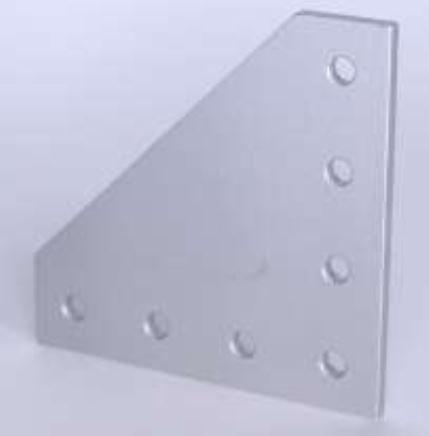 T-slots 653184  7 Hole 90 Deg Joining Plate