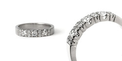 Titaaninen vihkisormus timanteilla