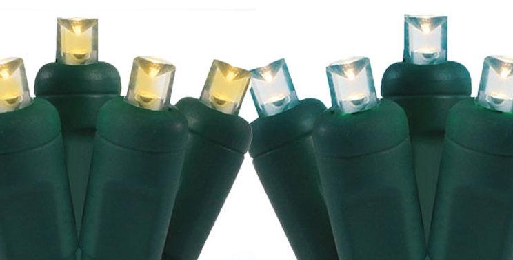 """5MM 70 Light/4"""" Spacing LED Light Strings - Case of 24"""