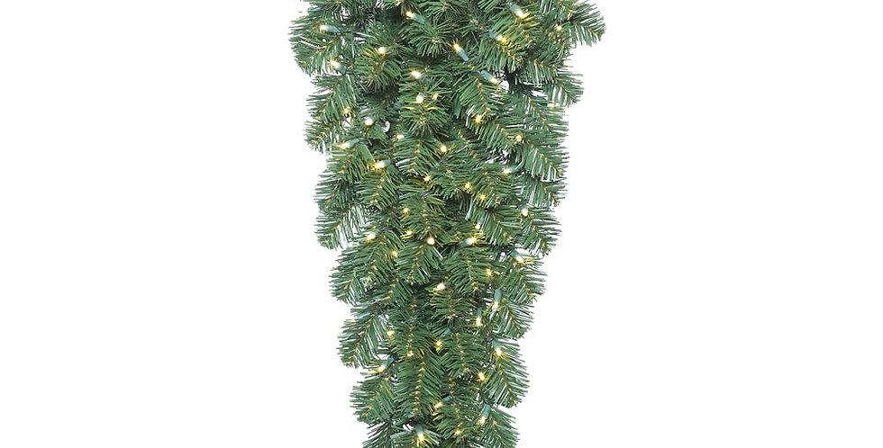Mixed Pine Sprays w/ Warm White LED Lights