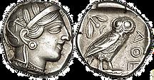 pièces de monnaie anciennes de collection (monnaie_athenienne)