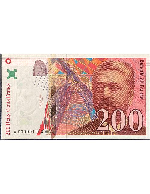 RARE 200 FRANCS EIFFEL 1995, BILLET 1503, PREMIÈRE DATE
