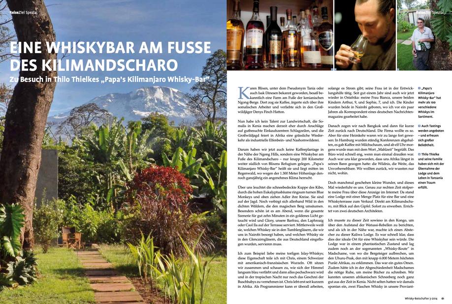 Article Der Whisky Botschafter Kaliwa Lodge