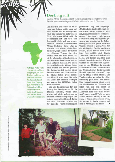 Article Viva- Stern Kaliwa Lodge