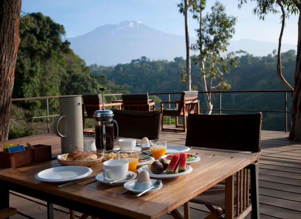 Breakfast at The Deck Kaliwa Lodge