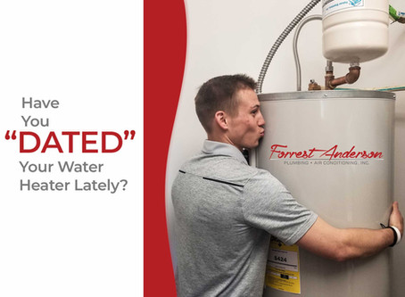 When was the last time you took the time to date your water heater?