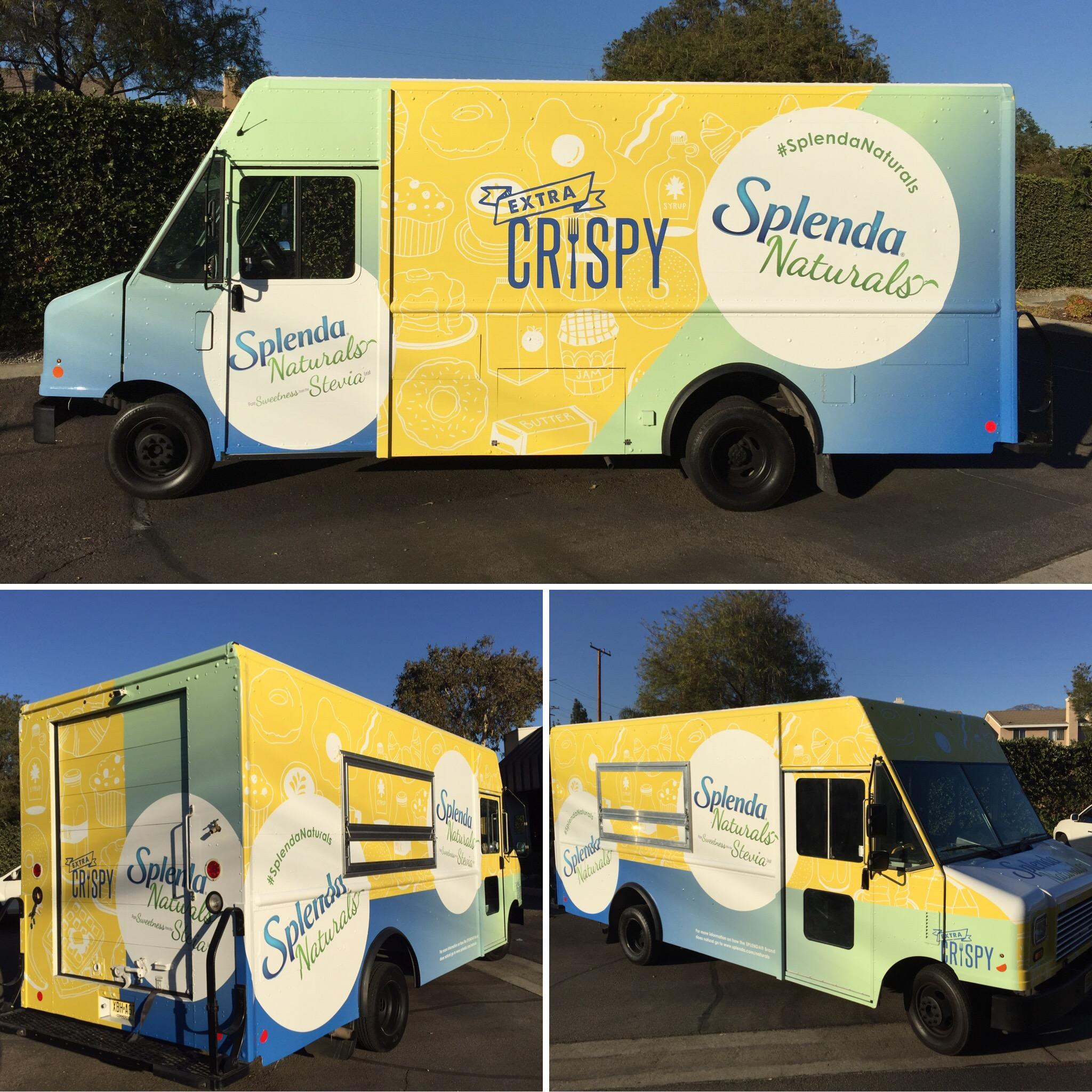 Splenda Food Truck Wrap