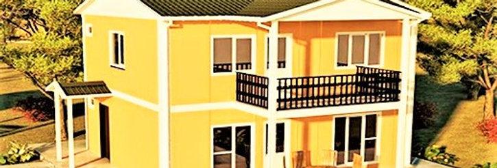 114m2 İki Katlı Prefabrik Deprem Evi