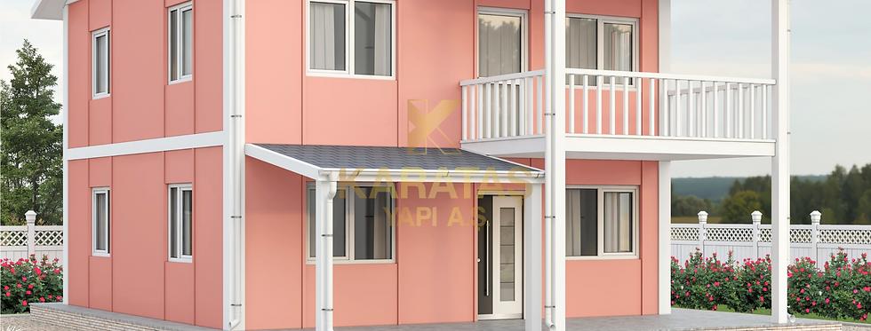 149m2 İki Katlı Prefabrik Villa