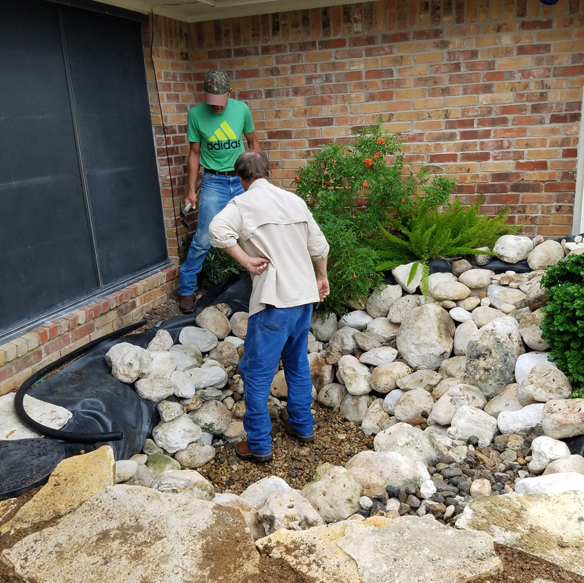 25-Laying the Rock Border