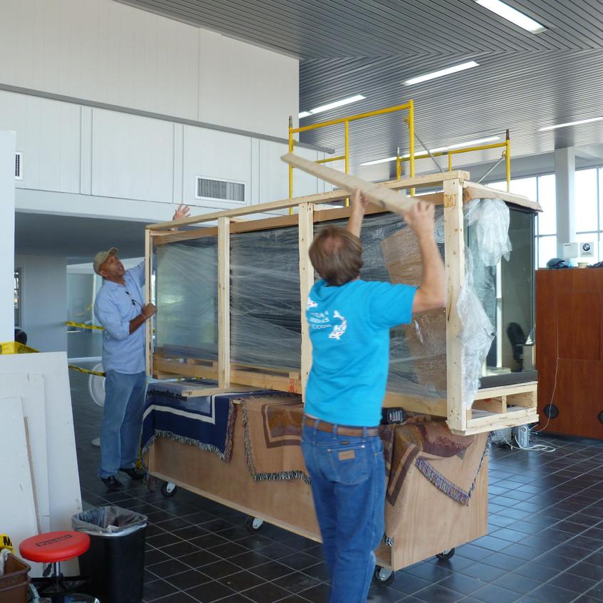 3-Moving Aquarium to Stand for Transfer