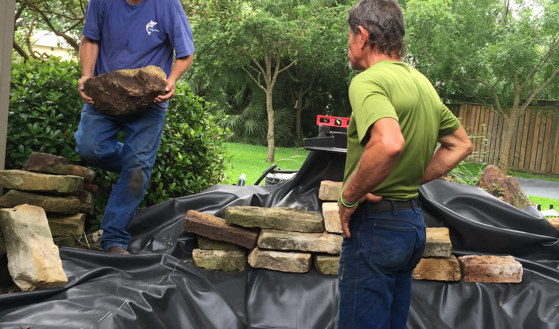 20-Start Rebuilding Rock Structure