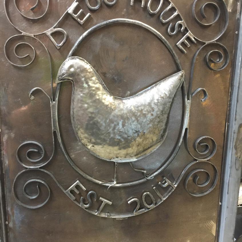 14-Custom Metal Door Medallion