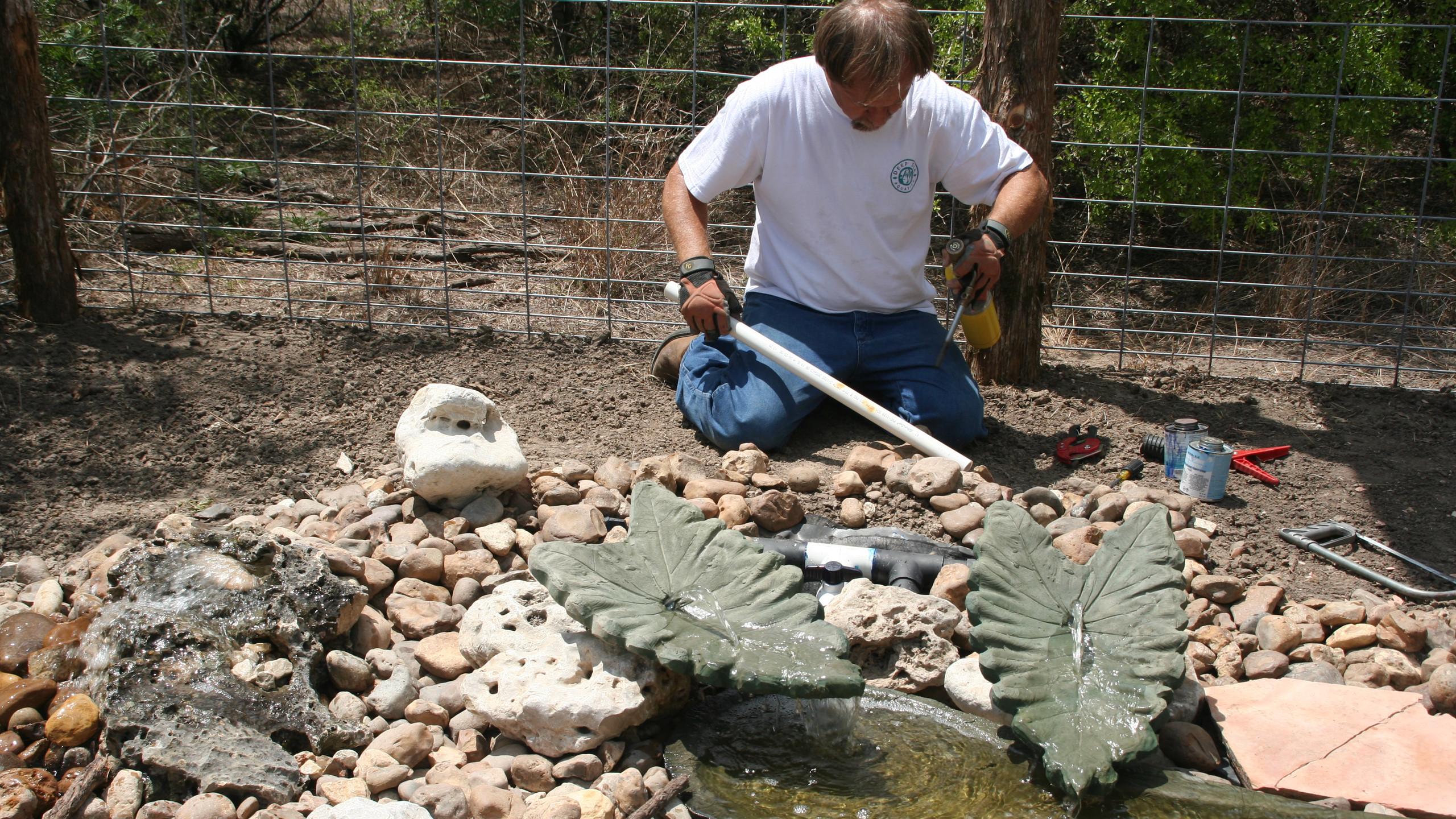 16-Plumbing of Water Feature