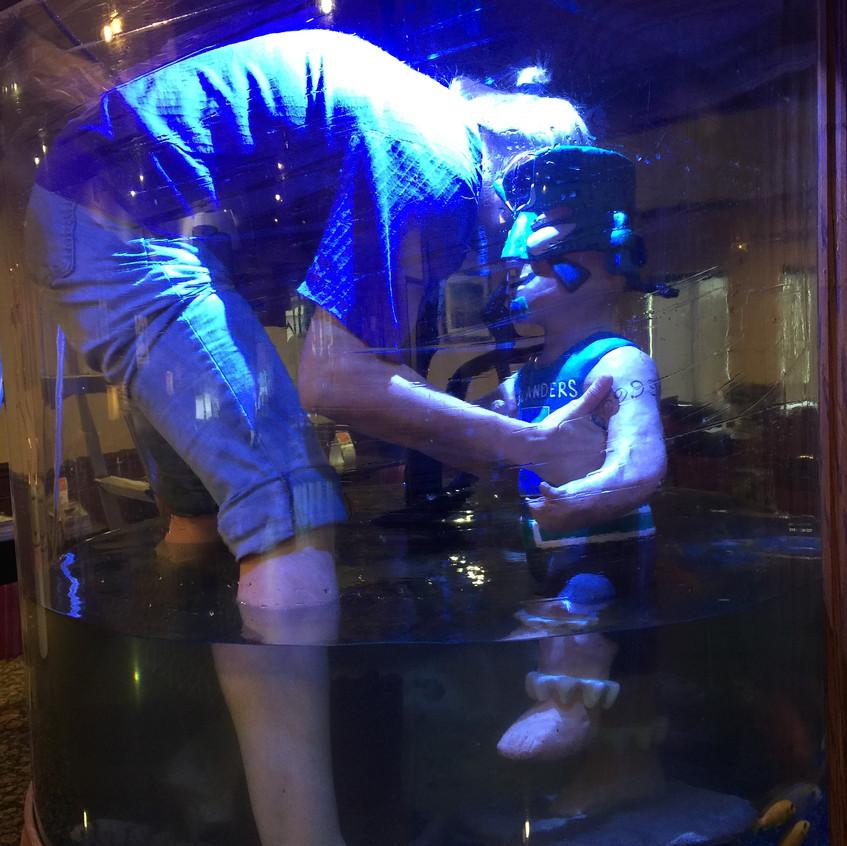 5-Lowering Izzy into the Aquarium