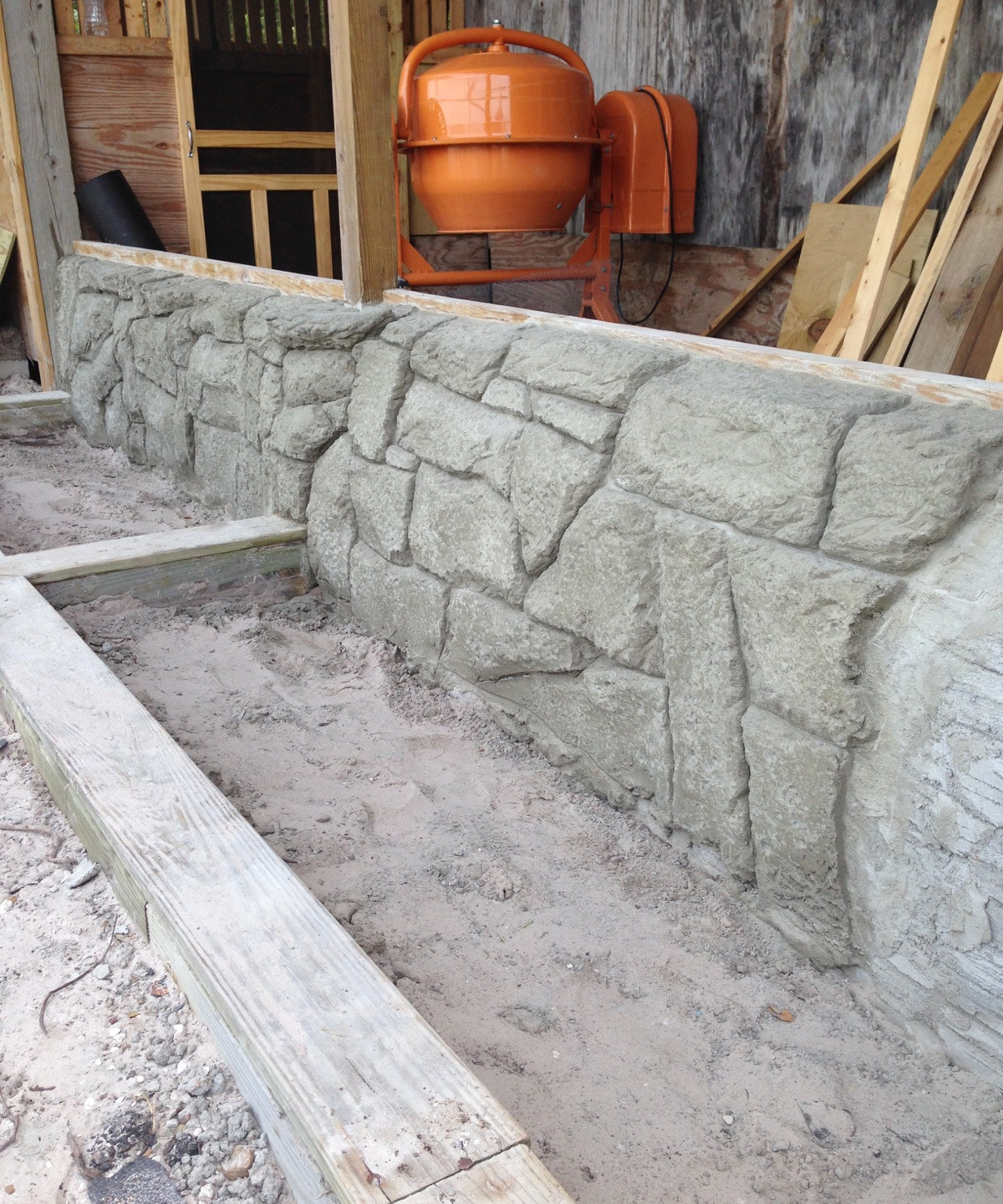 9-Side View Carved Concrete