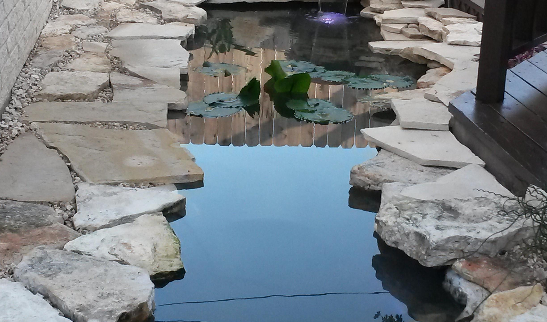 29-Finished Pond Left Side