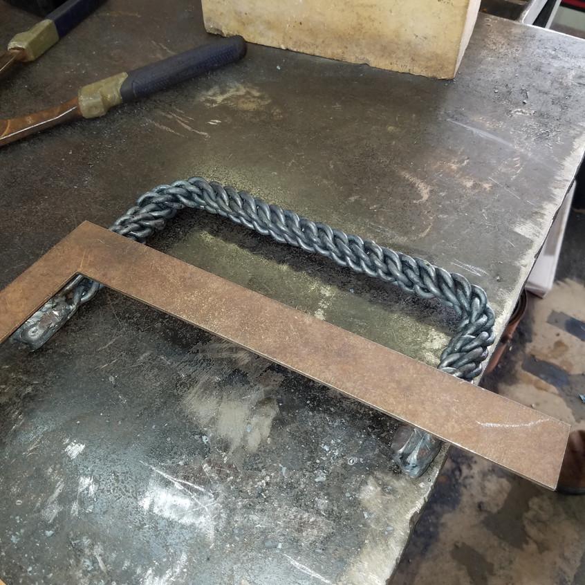 9-Shaped Raw Door Handle